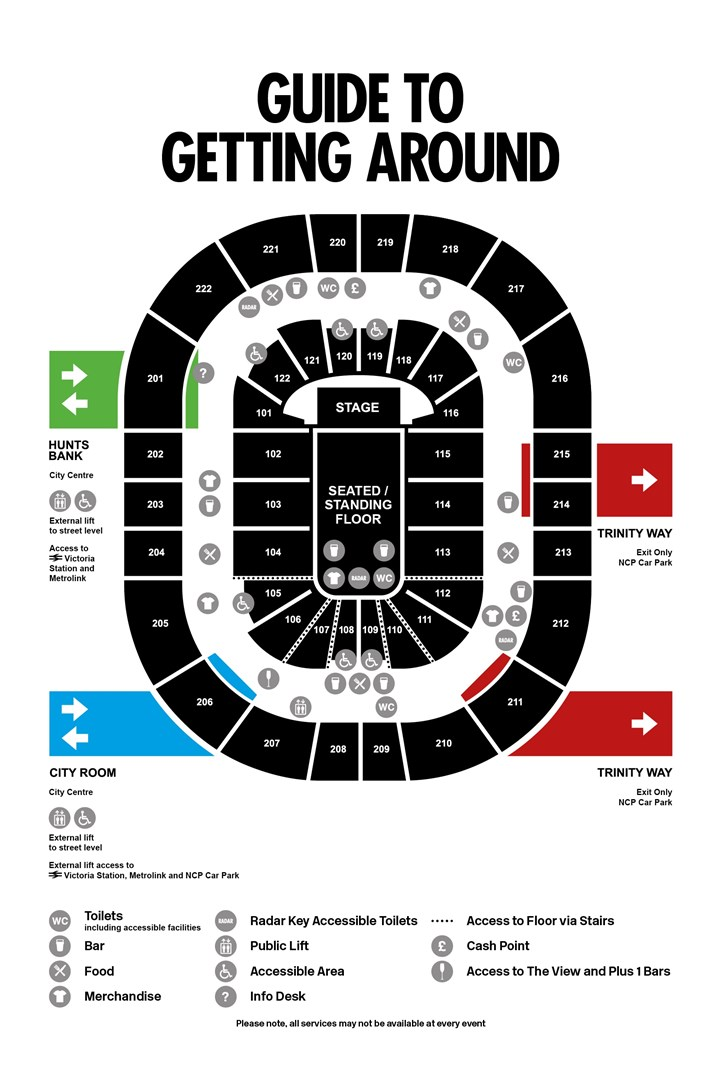 Seating Plan for Manchester Arena